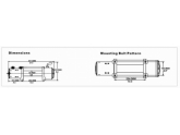 Лебедка EW-12500 Improved Off-Road 24В