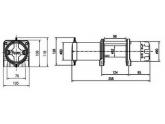 Лебедка ATW PRO 2500 со стальным тросом